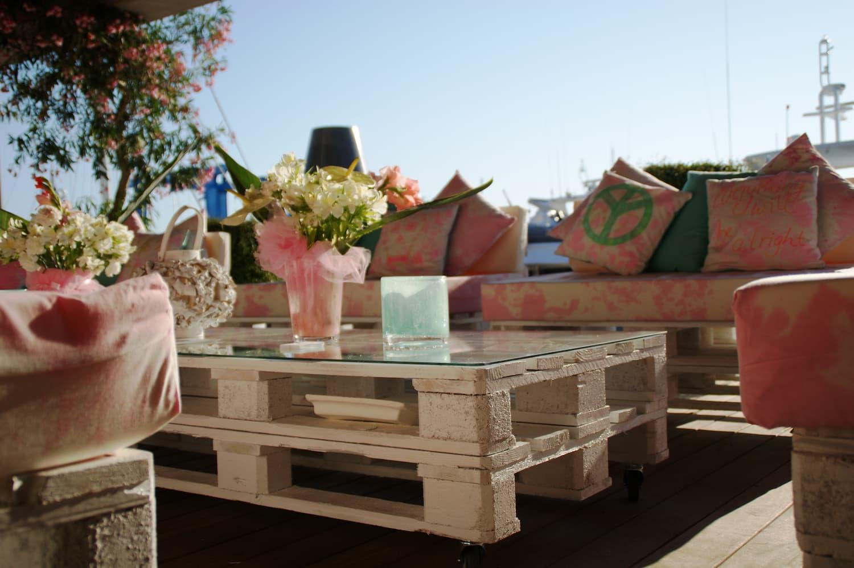 meubles de jardin en palettes